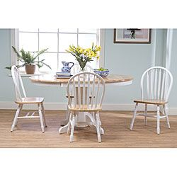 Simple Living Farmhouse 5 Or 7 Piece White/ Natural Dining Set By Simple  Living