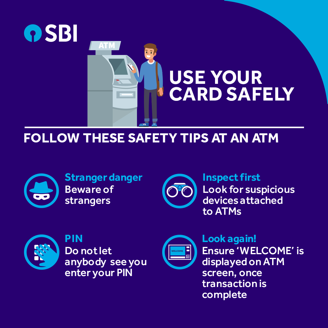 Keep your money safe, especially when you are accessing the