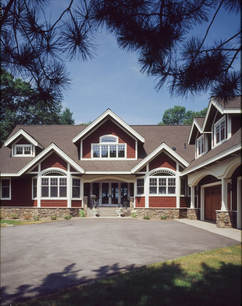 Cedar and stone homes touches of stone red cedar siding for Stone and cedar homes