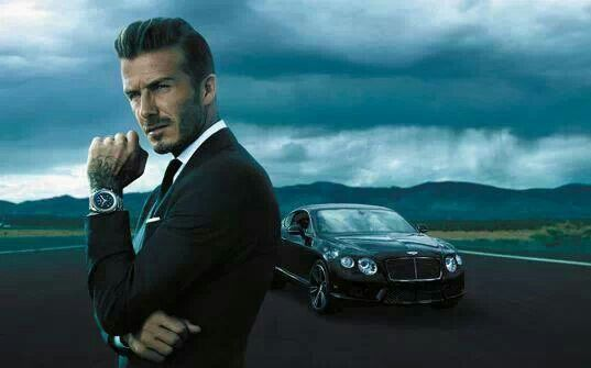 David Beckham for Breitling and Bentley