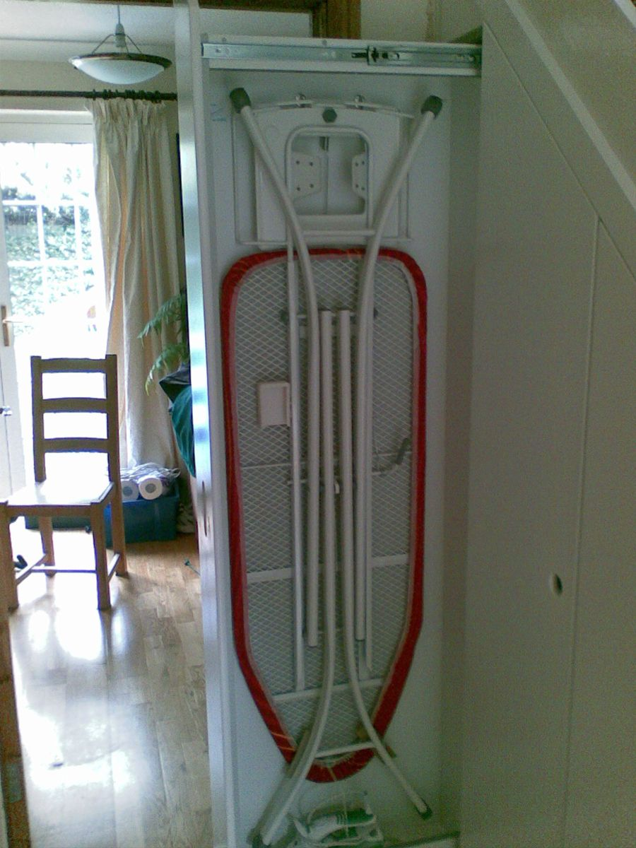 Gentil Hide Ironing Board In Pullout Unit Under Stairs Understairs Storage Ideas,  Attic Storage, Under