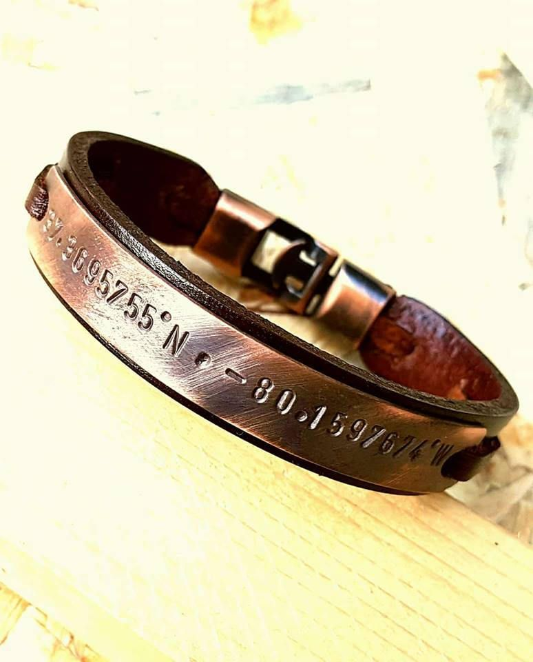 66cb6a5b1a36b Personalized Gift for men Boyfriend Christmas Gift for husband Leather Men  Bracelet Mens Leather Man Bracelet