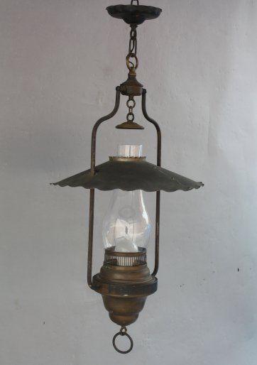 1930s Racho Monterey Lantern Pendant Light Hurricane Globe Hand