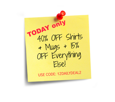 40% off Shirts & Mugs ♥ Today Only