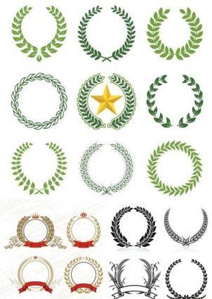 laurel wreaths pattern design, Laurel, Wreaths, pattern, design ...