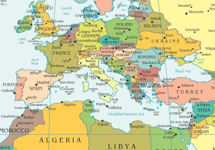 Mediterranean Countries Map mediterranean map mediterranean sea ...