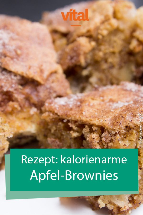 Photo of Rezept für kalorienarme Apfel-Brownies