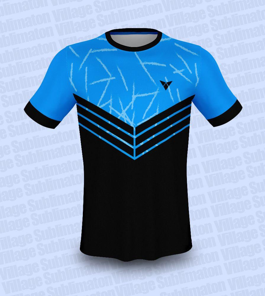 Black and Sky Blue Football Jersey Design   Football jersey design ...