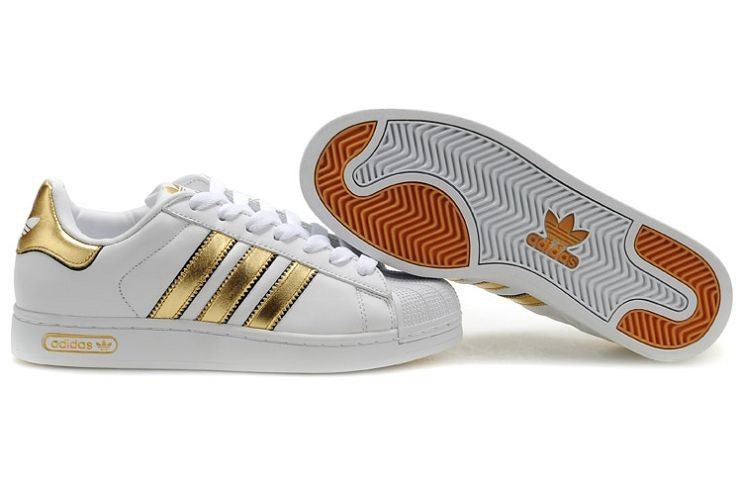 Discount R9Q7Q Women\u0027s Adidas Superstar 2.5 Trainer - White Black Gold [ Adidas-UK-
