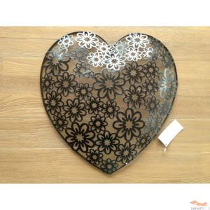 Large Metal Heart Wall Decor