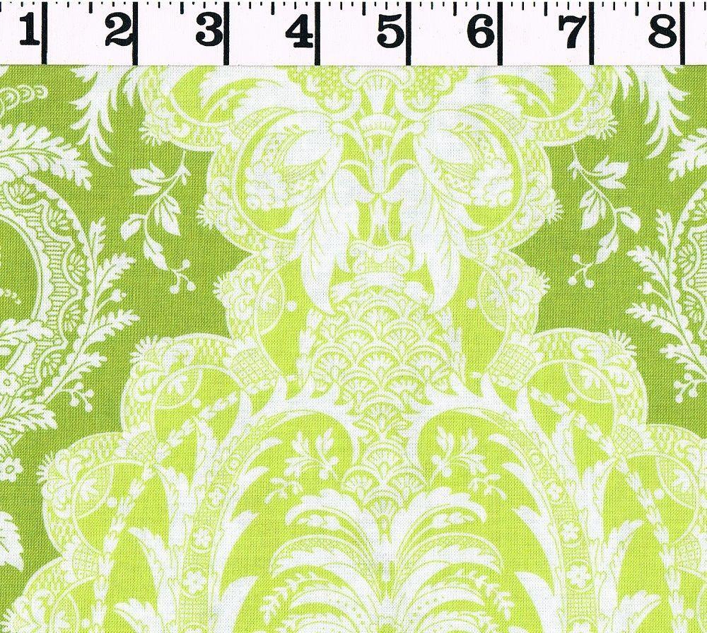 Flower Power Green Damask Jennifer Paganelli WESTMINSTER FIBERS by