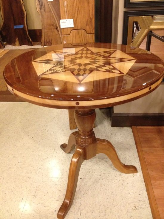 Usa Made Card Table Gallery Furniture Round Wood Table Furniture