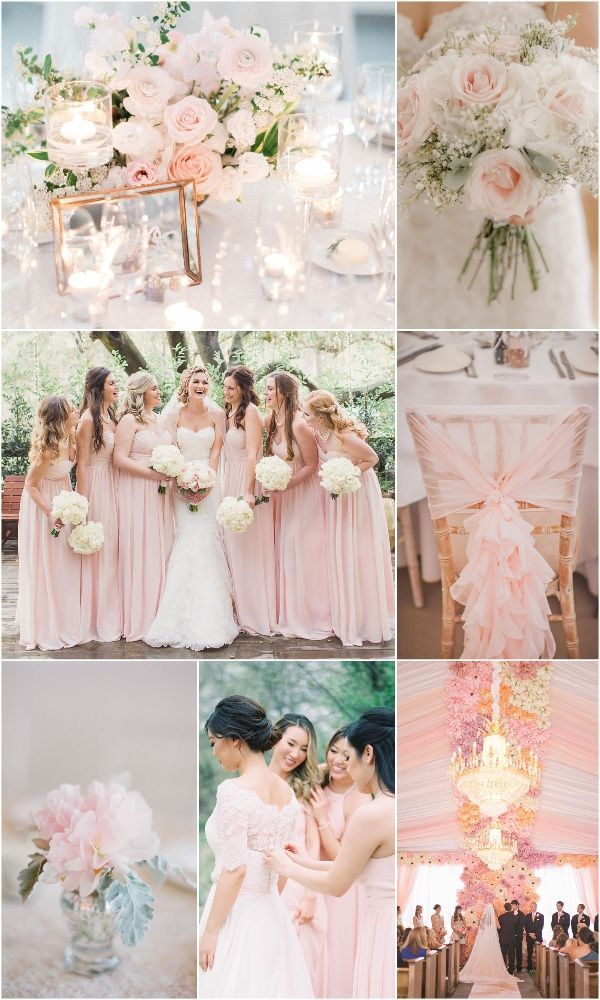 Wedding Trends 15 Romantic Blush Wedding Color Ideas Blush Wedding Colors Light Pink Wedding Blush Pink Bridesmaid Dresses
