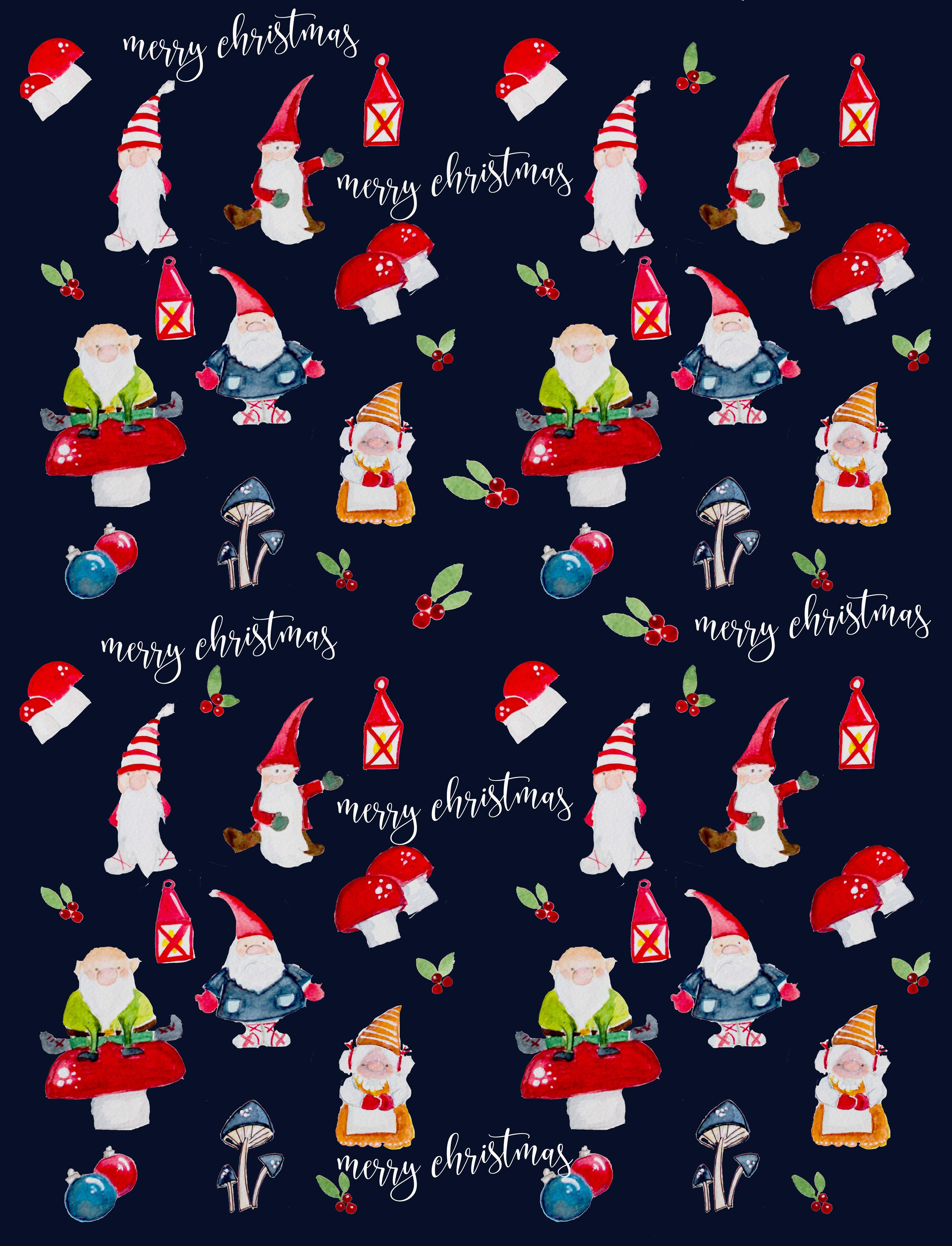 Cute Christmas Gift Wrapper Printable