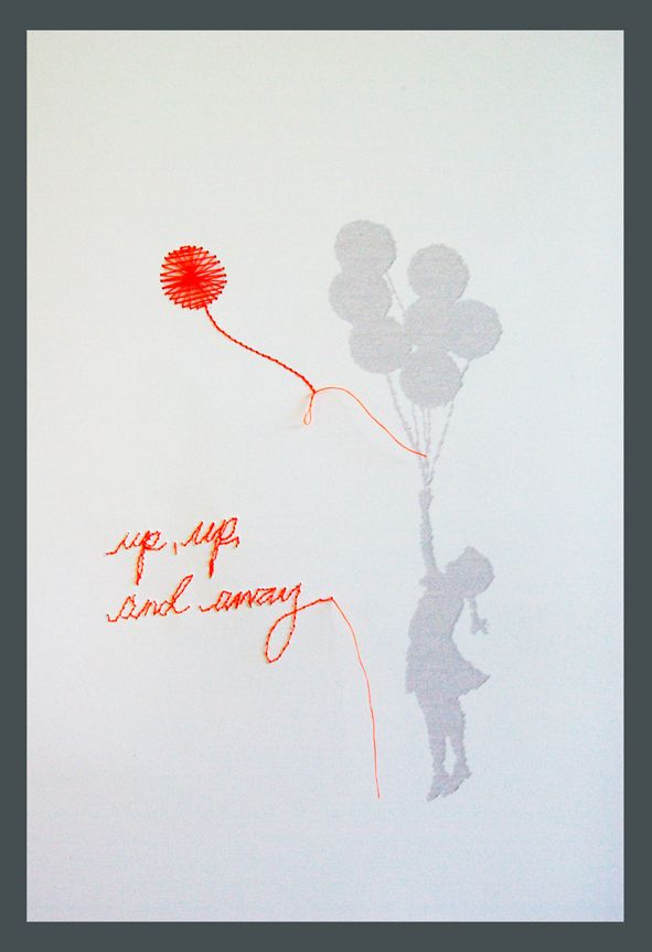 girl and balloons (with BIG respect to Banksy)