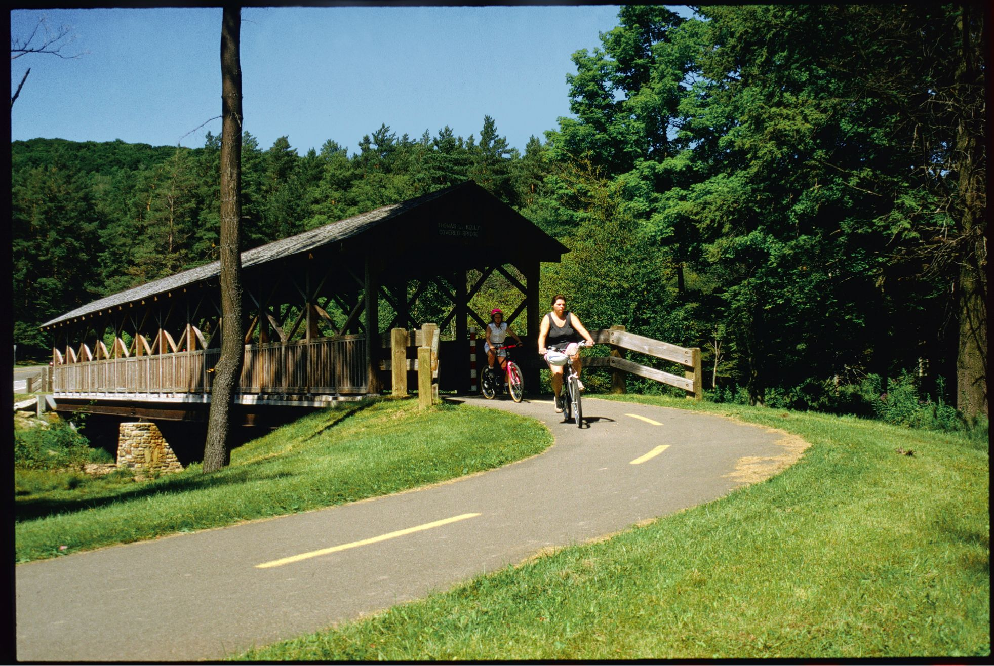Allegany State Park offers scenic paved trails around Red House Lake or Mountain Biking.  Don't forget the Raccoon Rally!