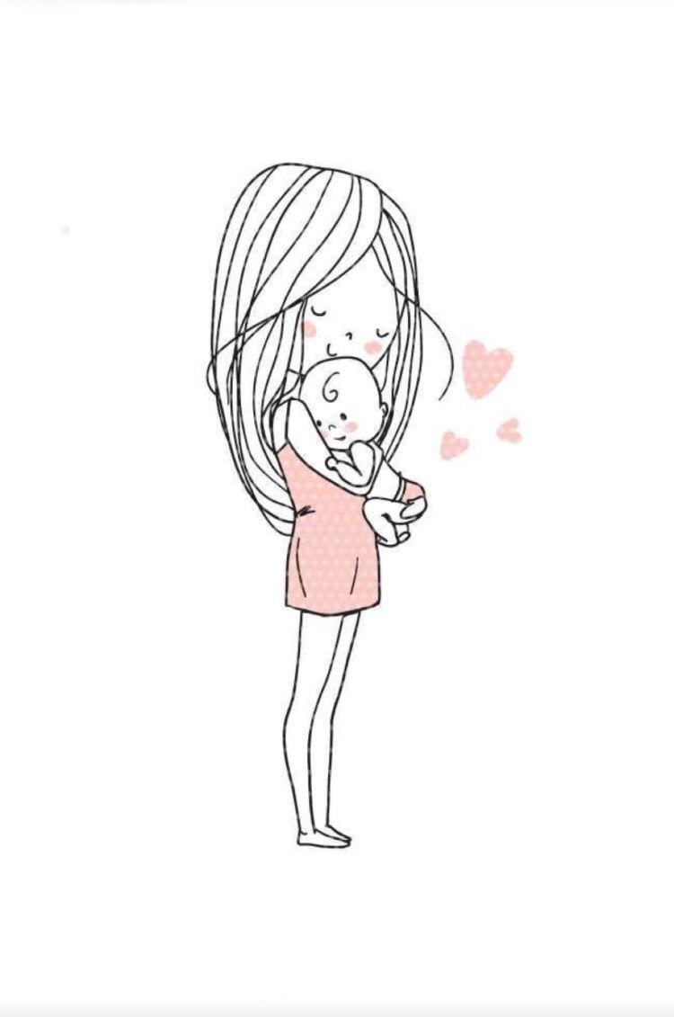Pin De Pupi En Little Things Arte De Nacimiento Dibujo Para Mama Dibujo De Bebe