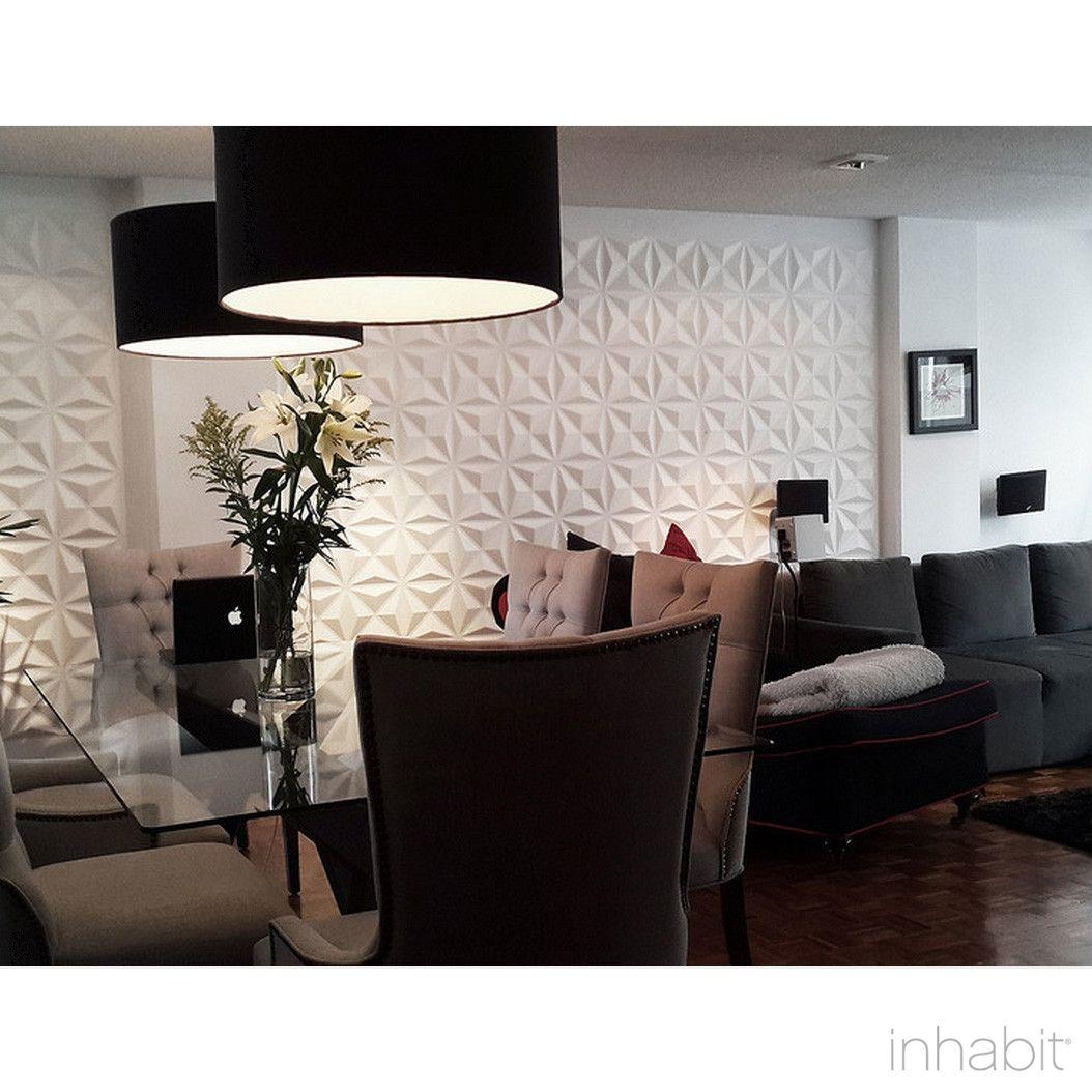 Facet wall flats 3d wall panels decoraciones del hogar for Decoracion hogar 3d
