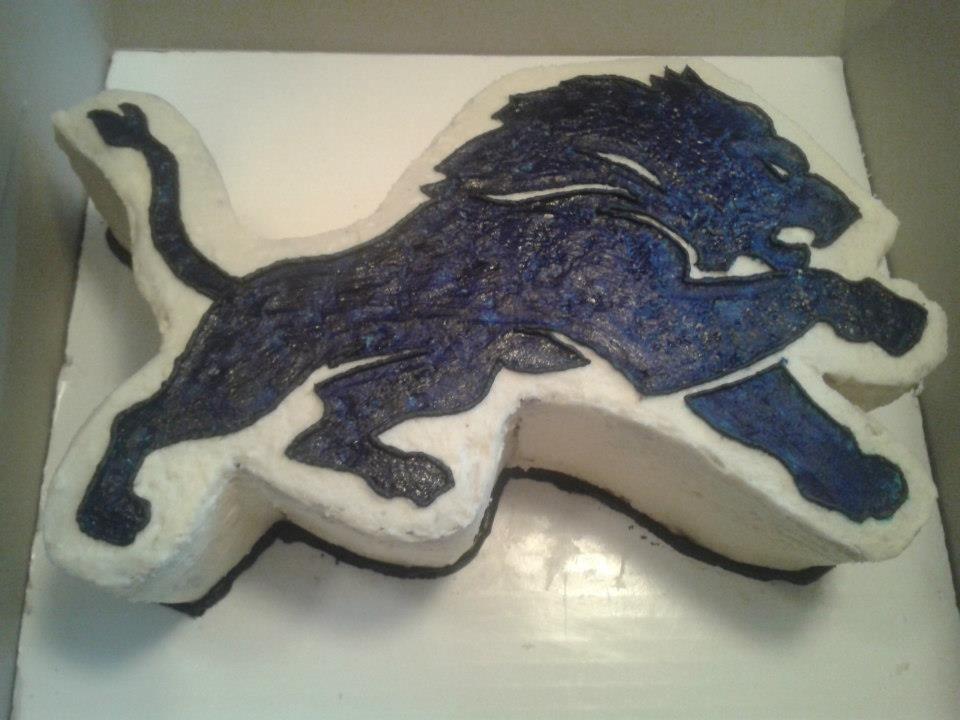 Best Detroit Lions Cakes Images On Pinterest Detroit Lions - Lion birthday cake design
