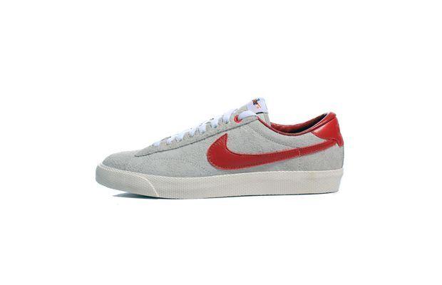 Nike Tennis Classic White/team Red Trainers | Red trainers, Nike tennis and  Classic white