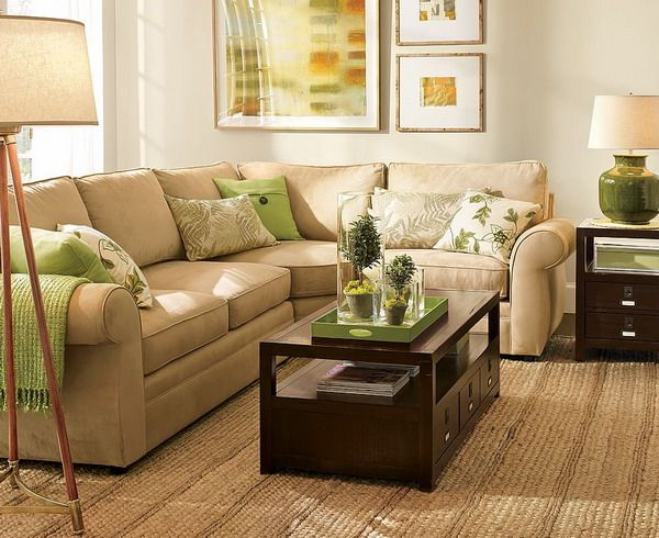 Living Room Green And Brown Orange Accent Espresso Natural Fibers Love