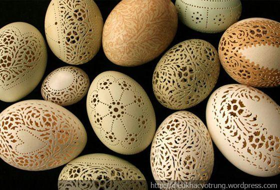 Sản phẩm trứng điêu khắc đa dạng và tinh xảo