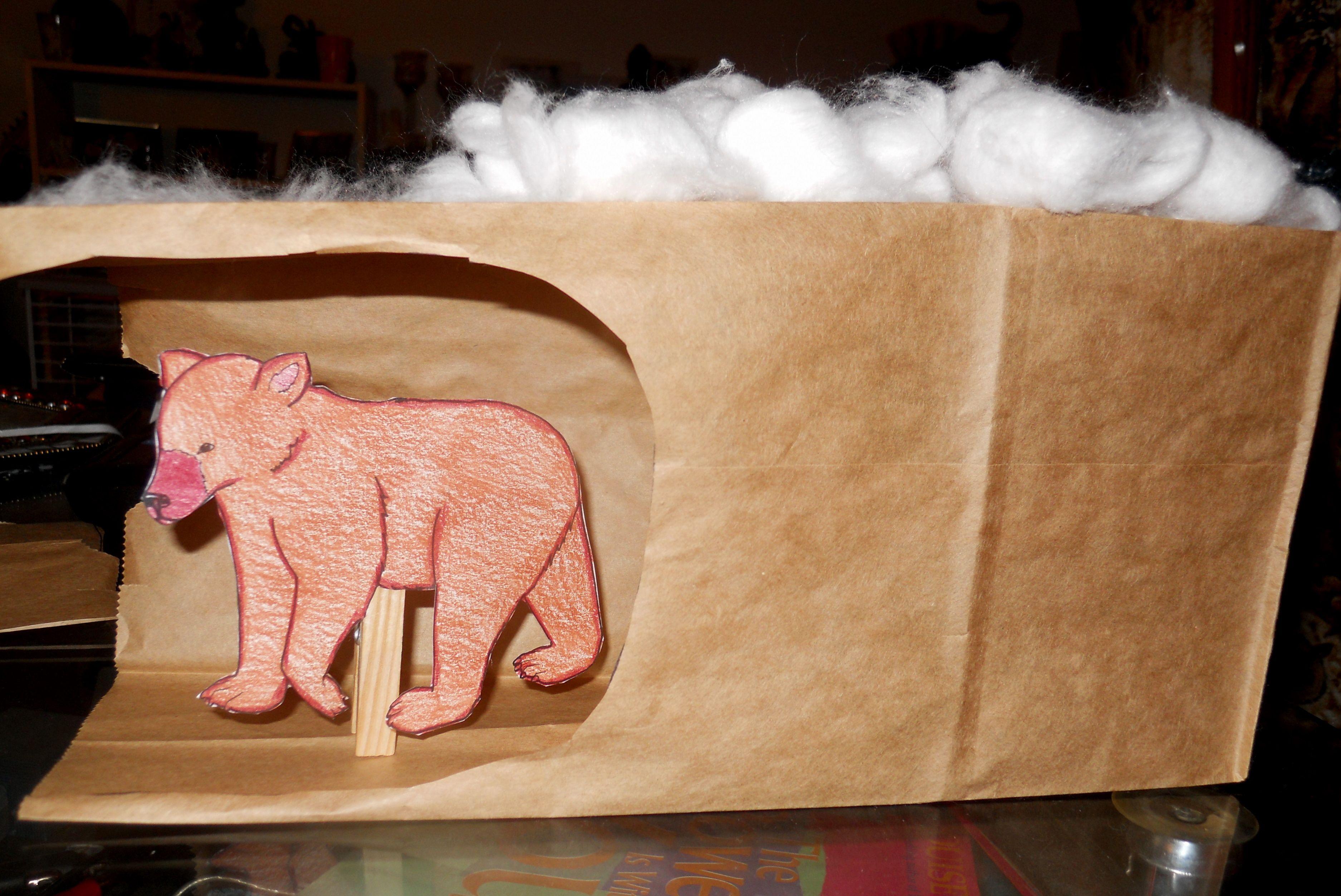 An Art Activity Making A Bear Cave For A Hibernation