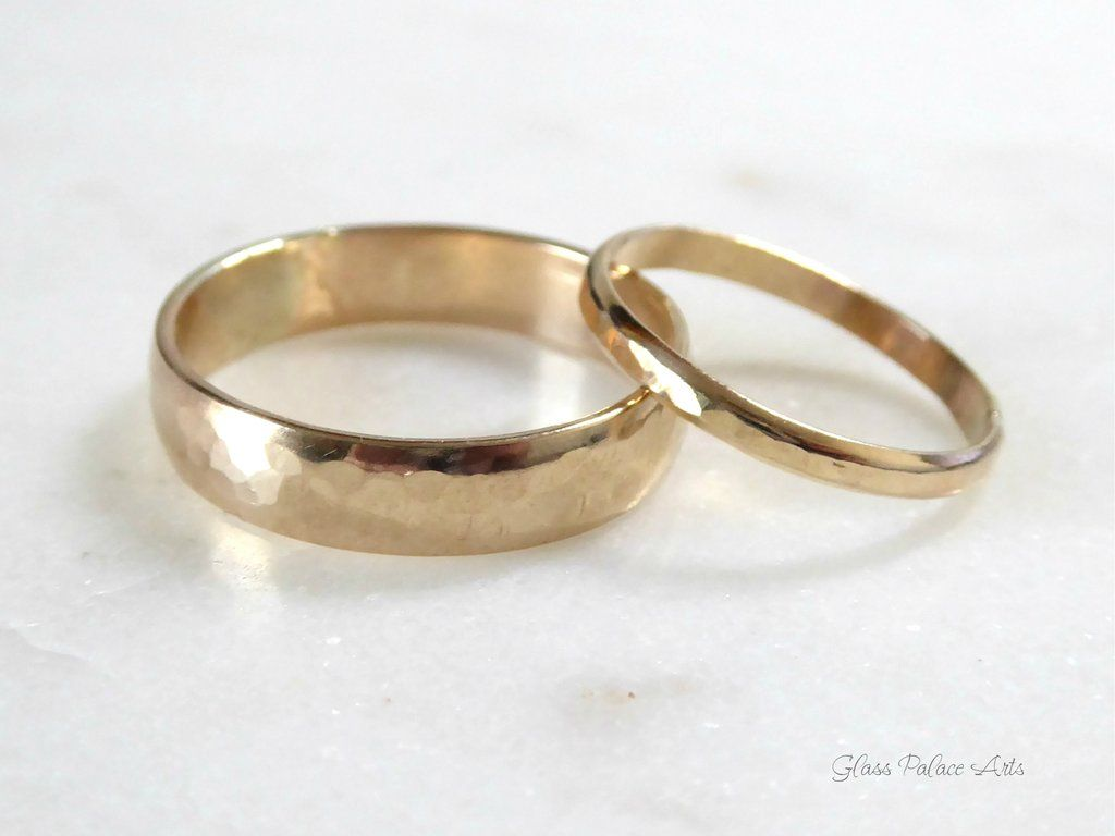 His And Hers Couples Ring Set 14k Gold Fill Matching Wedding Bands Couples Ring Set Promise Rings For Couples Matching Couple Rings