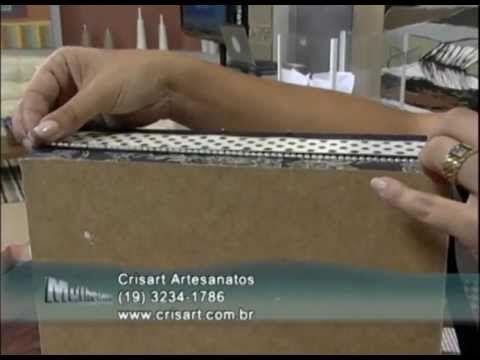 Forração de caixa com papel de scrap - Parte 2/2