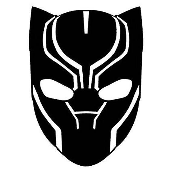 Marvel Black Panther Mask Decal En 2020 Dessin Panthere Noire