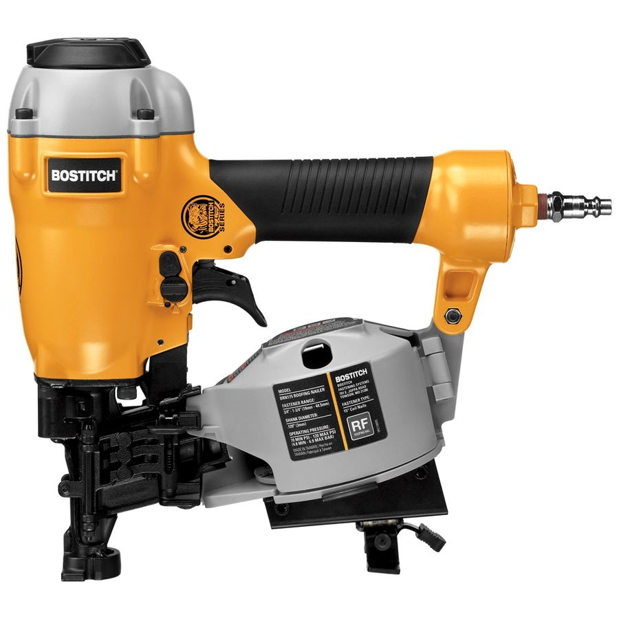 Bostitch Bulldog 1 75 In Gauge 15 Degree Roofing Pneumatic Nailer Brn175b In 2020 Roofing Nailer Air Tools Best Cordless Circular Saw