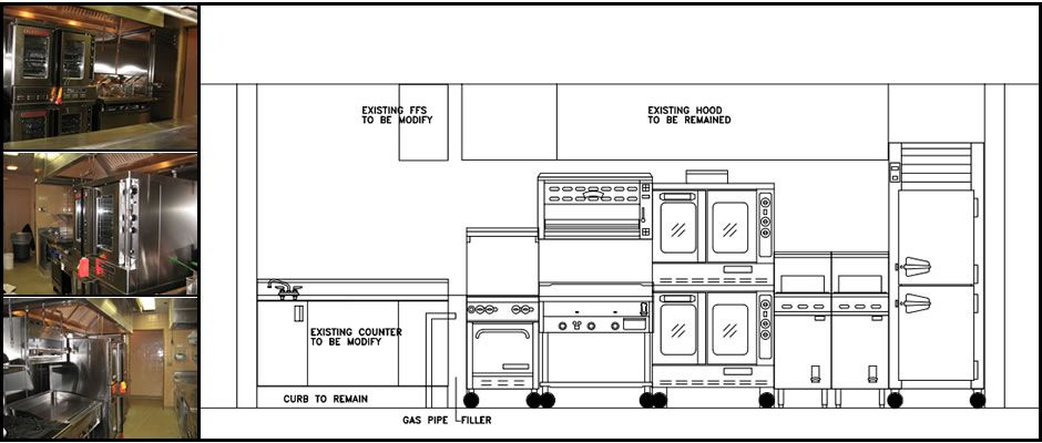 Small commercial kitchen layout and decor