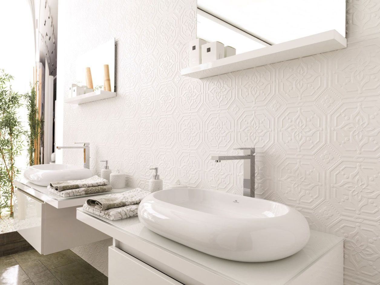 Porcelanosa Zoe Blanco | Pressed Tin Look Feature Tile | Available ...