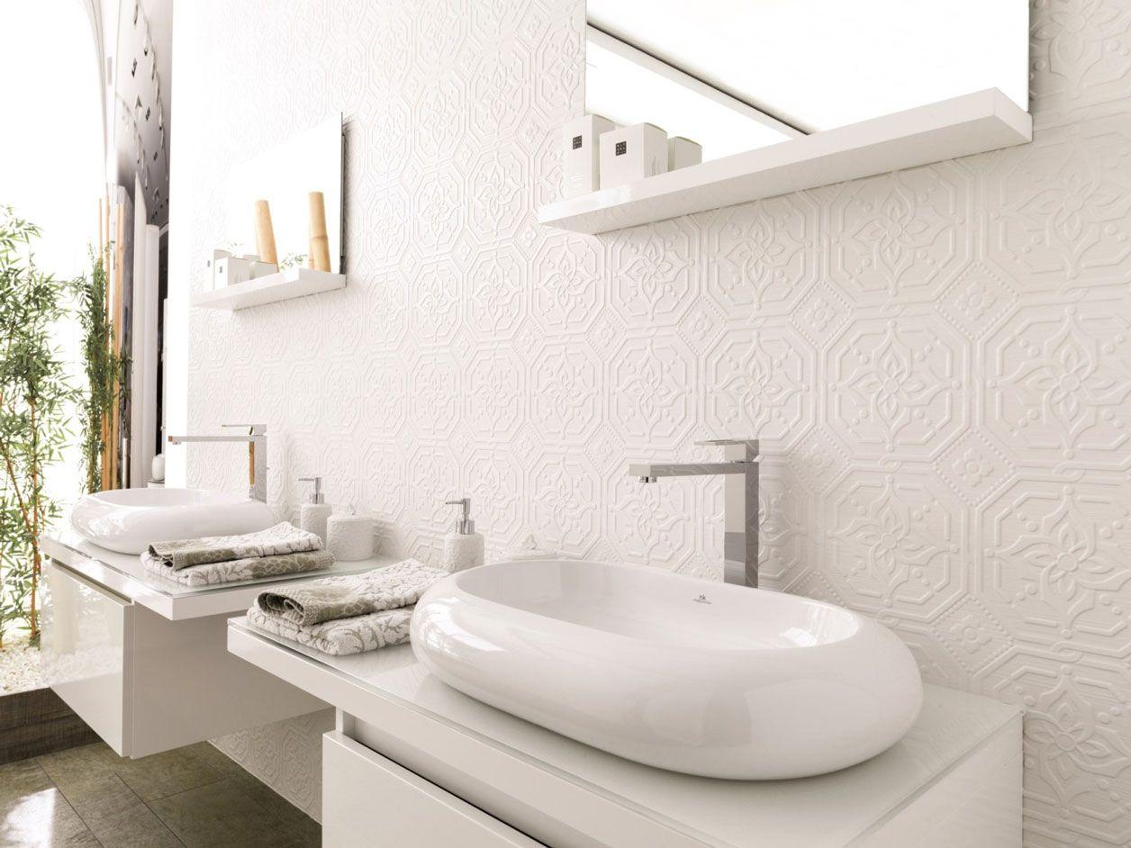 3d models bathroom accessories ceramic tiles venis artis - Porcelanosa Zoe Blanco Pressed Tin Look Feature Tile Available At Ceramo