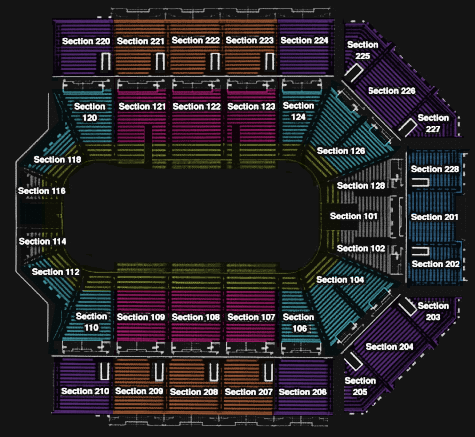 General Section Seating Chart For Van Andel Arena Grand Rapids Griffins Finder Arena