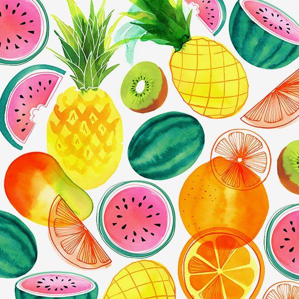 Tropical Fruit Pattern © magrikie | Fruit Patterns ...