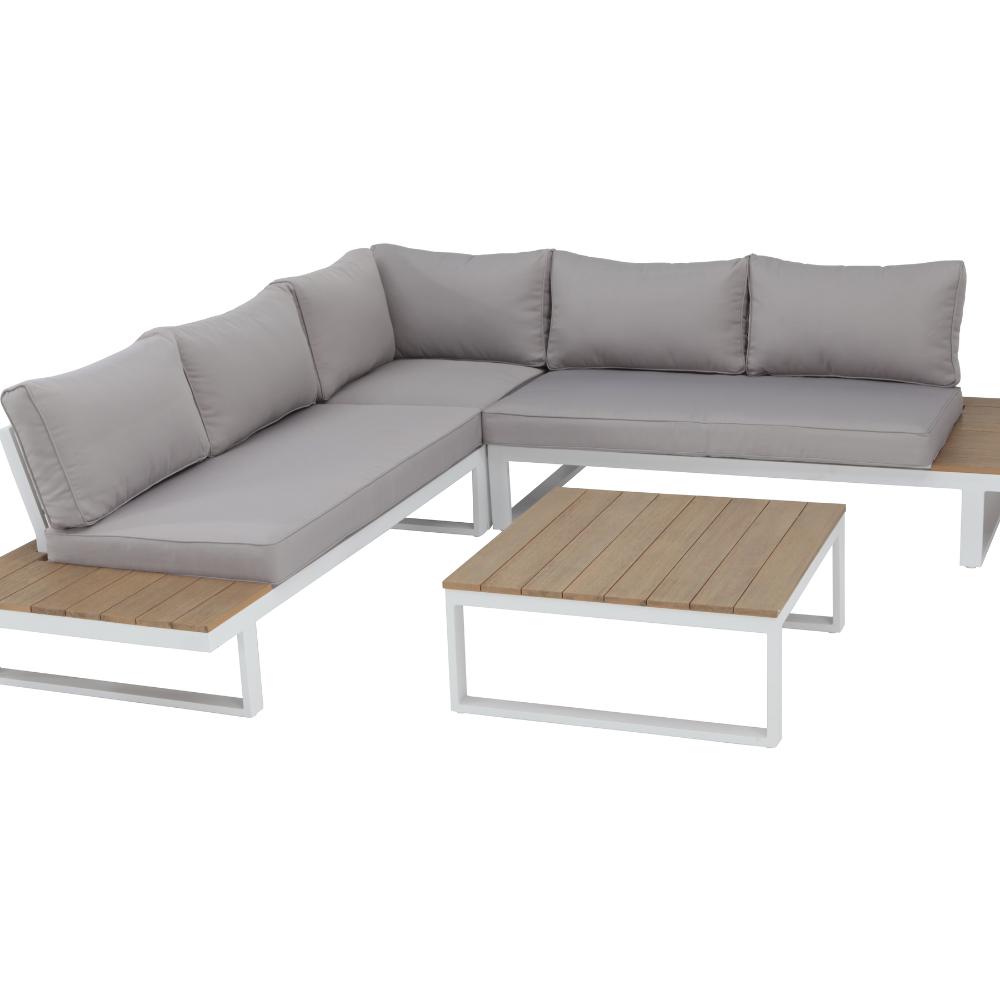 Conjunto Para Jardim Aluminio San Diego 2 Pecas Branco Naterial Leroy Merlin Em 2021 Sofa De Canto Mesa Com Sofa San Diego