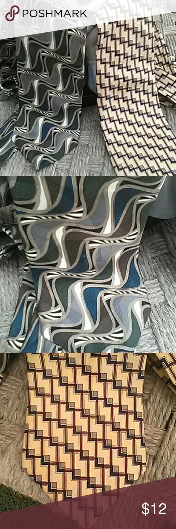 Silk Tie Bundle 2 for 1 Silk Tie x 2 Accessories Ties