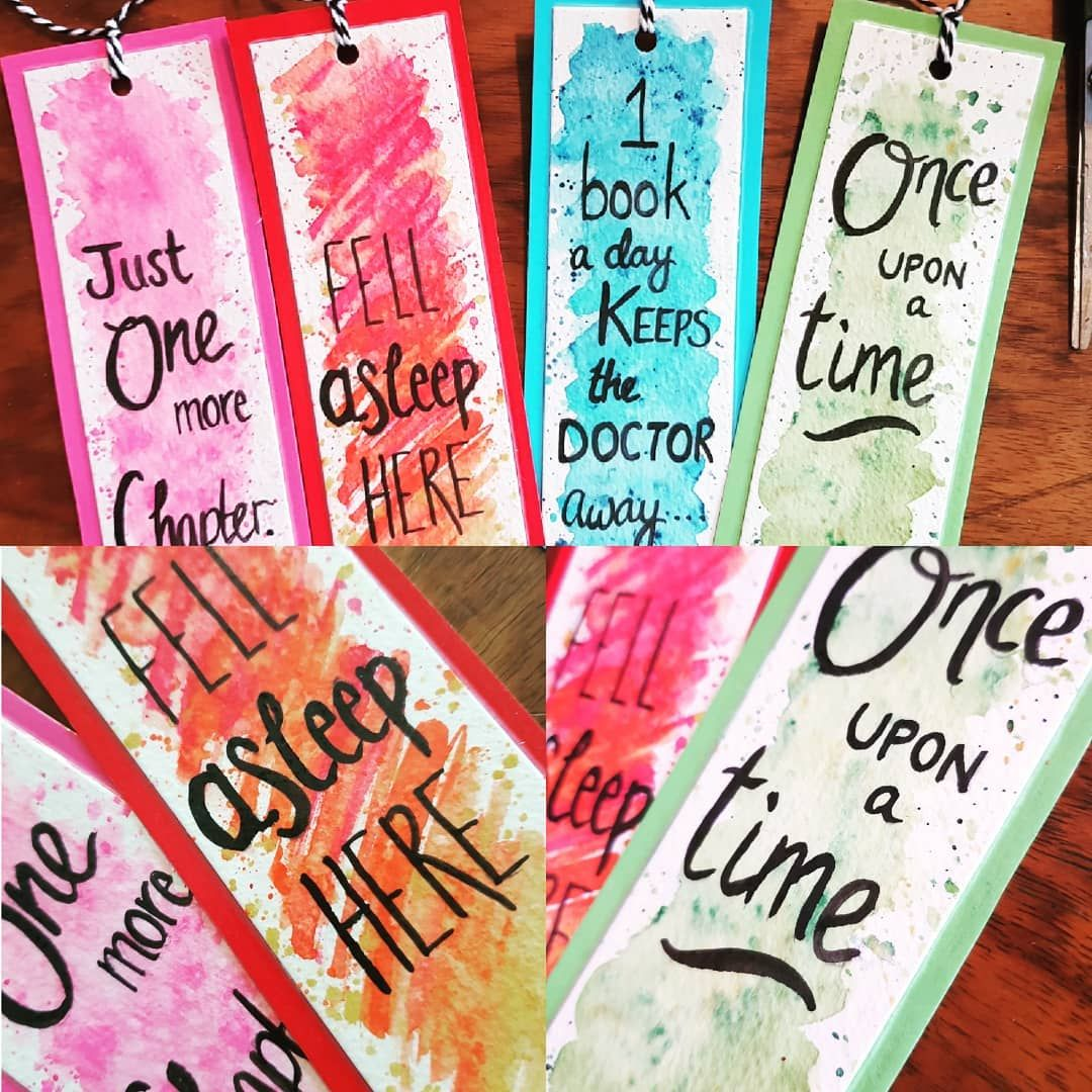 Love These Bookmarks Book Lover Watercolour Bookmarks Beautiful