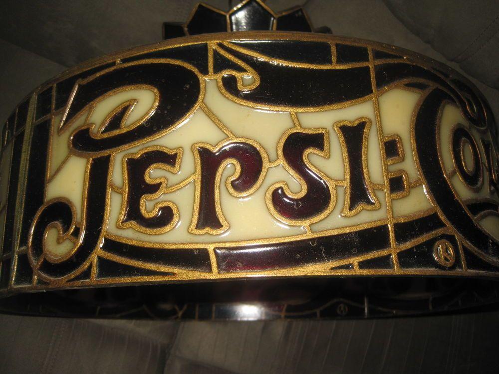 Details About Vintage Pepsi Cola Hanging Neon Light Sign