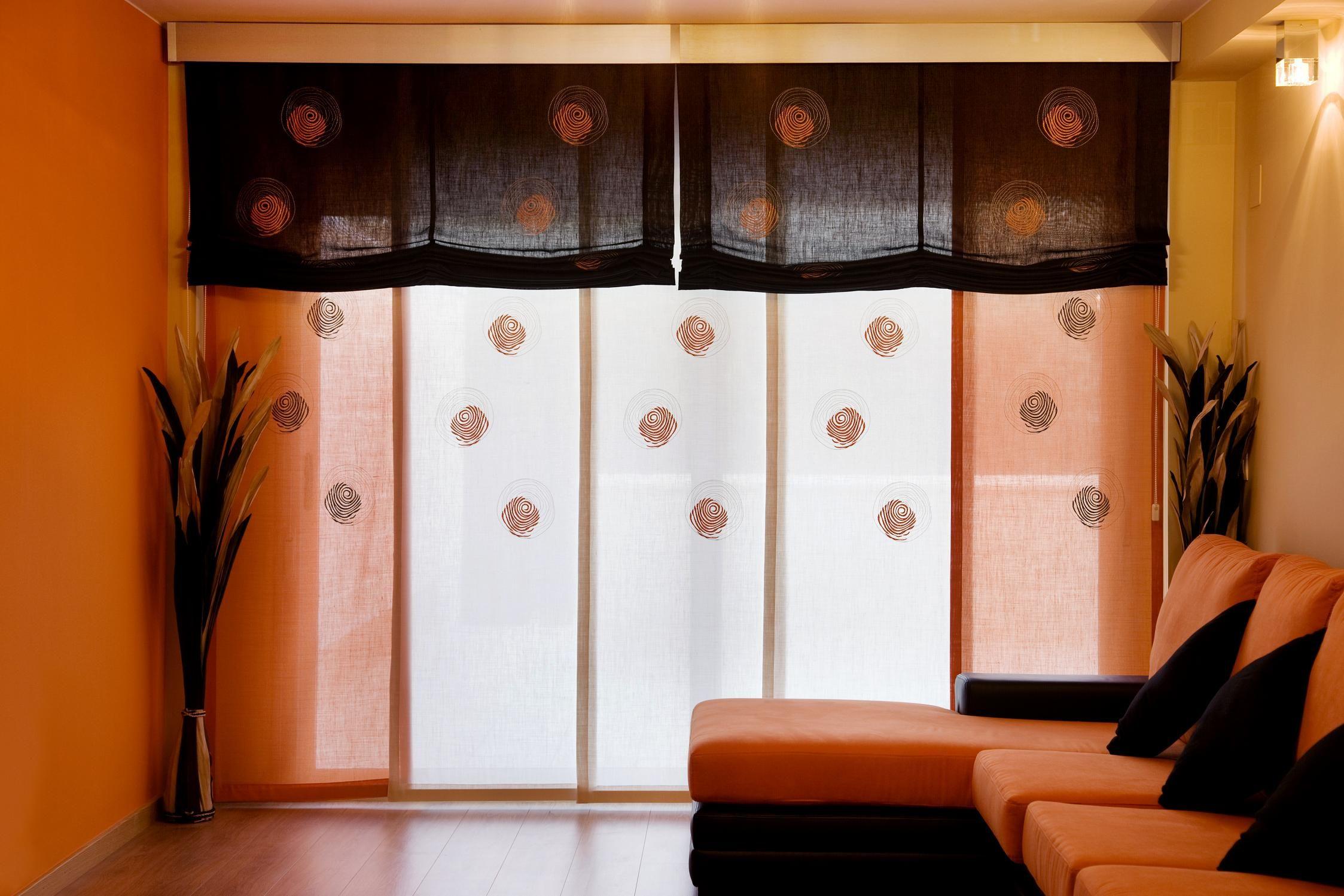 Panel japon s de 5 v as con dobles estores y galer a de - Paneles japoneses fotograficos ...
