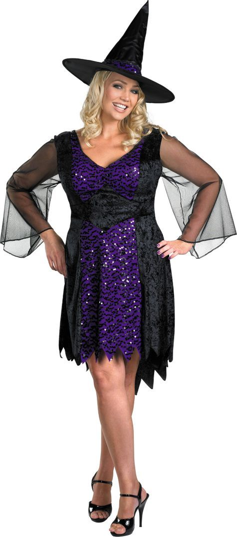 Adult Brilliantly Bewitched Plus Size Witch Costume - Party City ...