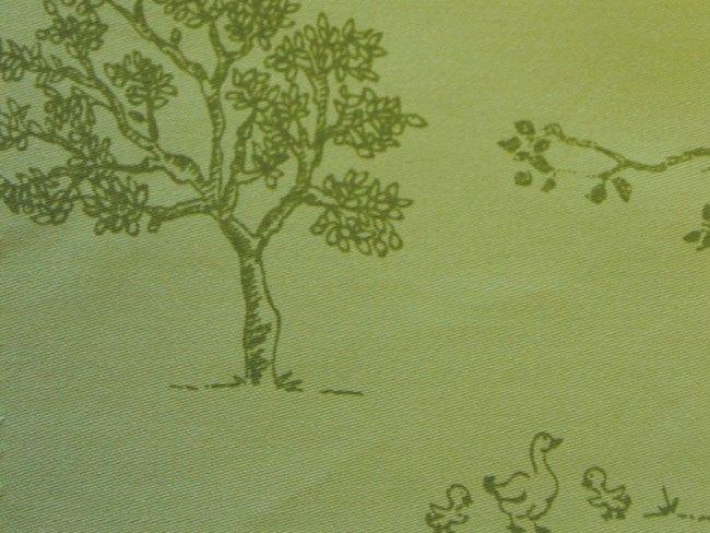 Animal Farm Green Printed Sa Pattern Organic Cotton Futon Cover