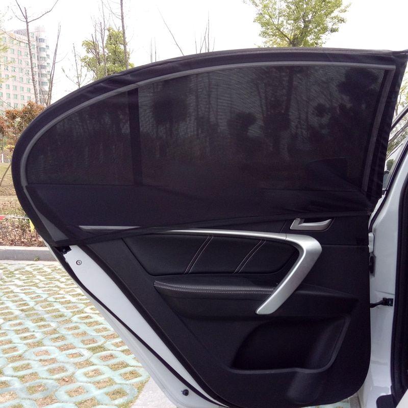 2Pcs Window Sun Shade Mesh Cover Baby UV Protector Shield Curtain for Car SUV