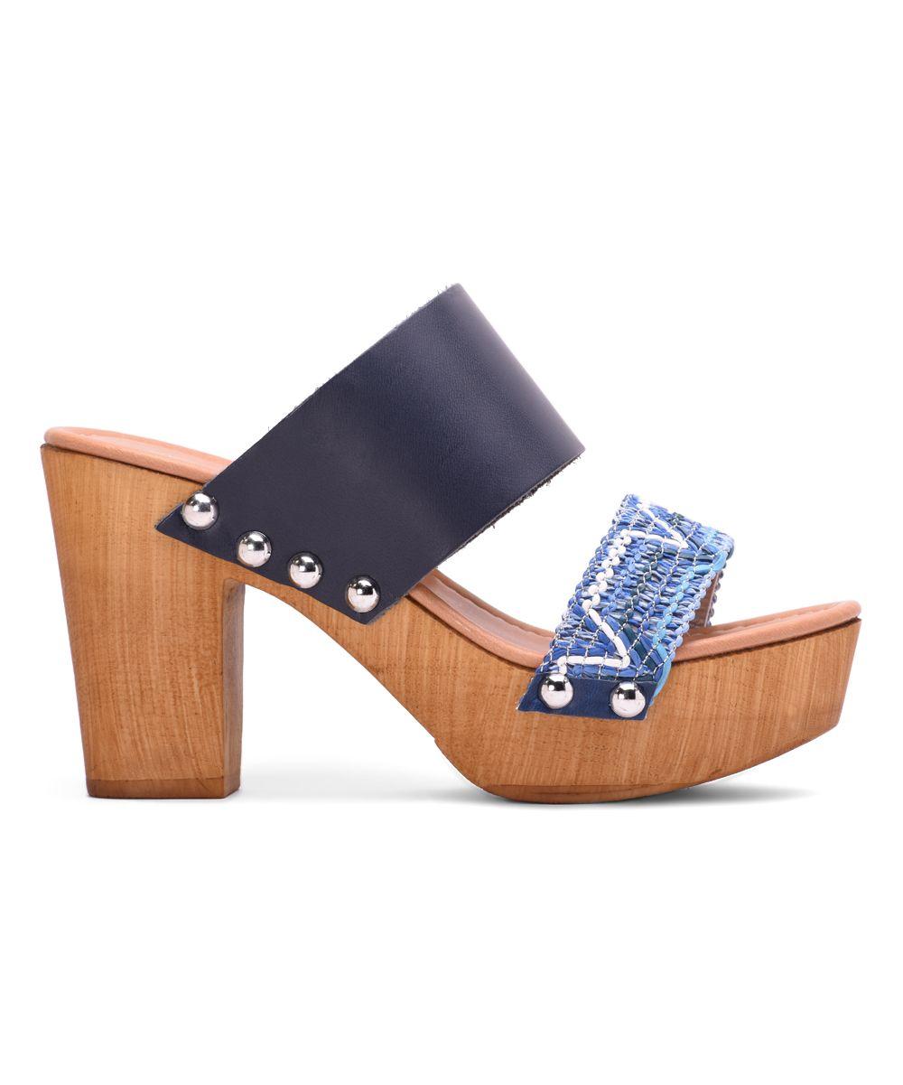 Blue Cognac Sandal