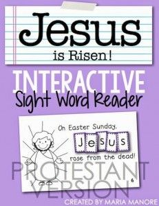 FREE Interactive Sight Word Reader for Holy Week - Kinder Craze