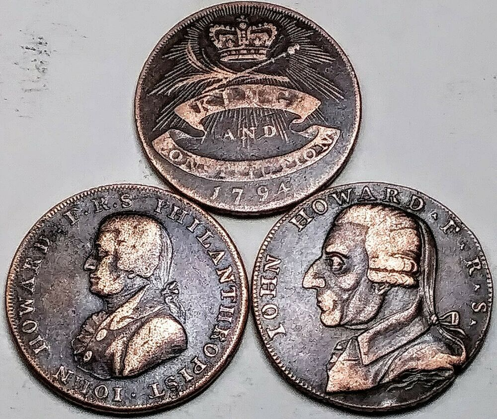 COLONIAL COINS Rare John Howard 1792 Westminster 1794