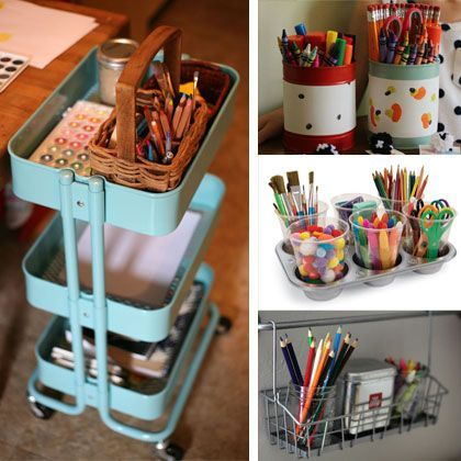 Diy Art Supply Storage