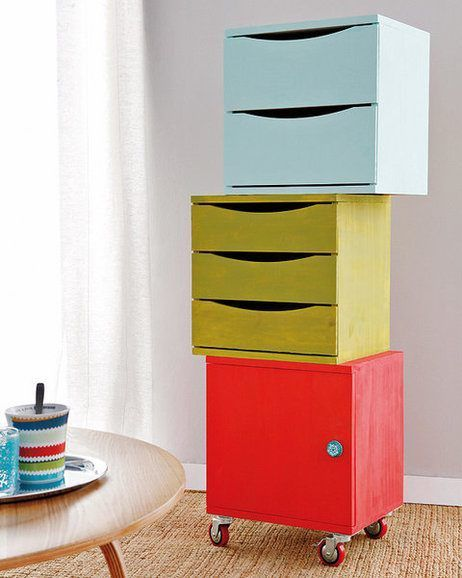Conjunto de muebles modulares http://ideasparadecoracion.com ...