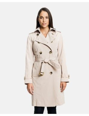 5a52d70bb064b Audrey Classic Double Breasted Trench Coat